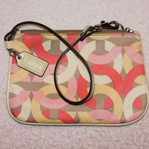 Coach Kristen Chainlink fabric with leather trim